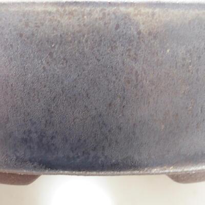Ceramiczna miska bonsai 14 x 14 x 4 cm, kolor brązowy - 2