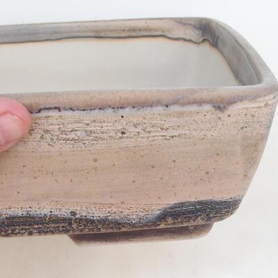 Miska Bonsai 30 x 22 x 8 cm, kolor szaro-beżowy - 2