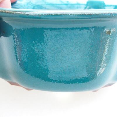 Ceramiczna miska bonsai 13 x 11 x 5,5 cm, kolor zielony - 2