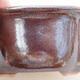 Ceramiczna miska bonsai 13 x 11 x 5,5 cm, kolor brązowy - 2/3