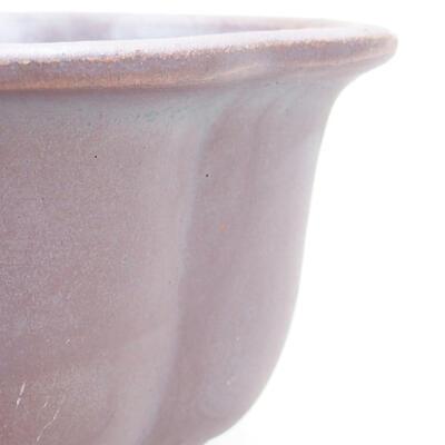 Ceramiczna miska bonsai 13 x 11 x 5,5 cm, kolor metalowy - 2