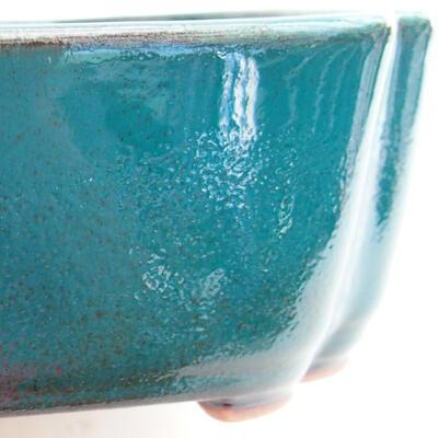 Ceramiczna miska bonsai 17,5 x 13,5 x 4,5 cm, kolor zielony - 2