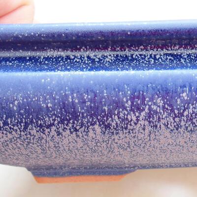 Ceramiczna miska bonsai 15,5 x 15,5 x 5,5 cm, kolor niebieski - 2