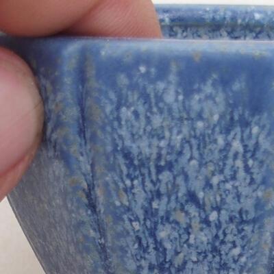 Ceramiczna miska bonsai 7 x 7 x 5,5 cm, kolor niebieski - 2