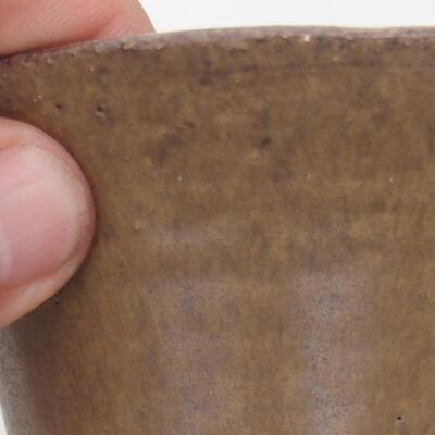 Ceramiczna miska bonsai 12 x 12 x 6,5 cm, kolor brązowy - 2