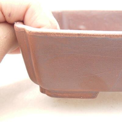 Ceramiczna miska bonsai 15 x 12 x 4,5 cm, kolor brązowy - 2