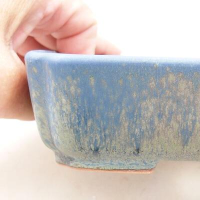 Ceramiczna miska bonsai 15 x 12 x 4,5 cm, kolor niebieski - 2