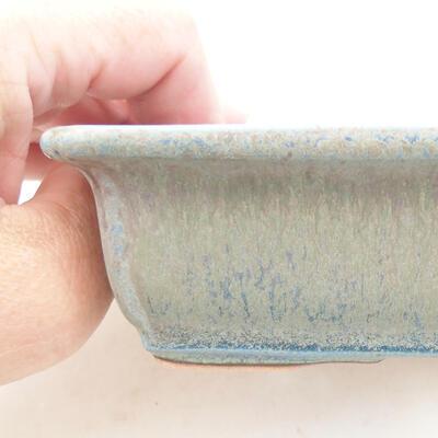 Ceramiczna miska bonsai 13,5 x 9,5 x 4 cm, kolor niebieski - 2