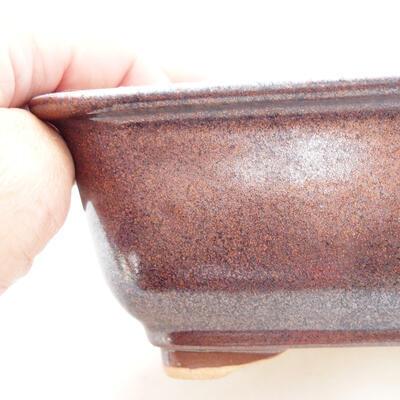 Ceramiczna miska bonsai 13 x 10 x 5,5 cm, kolor brązowy - 2
