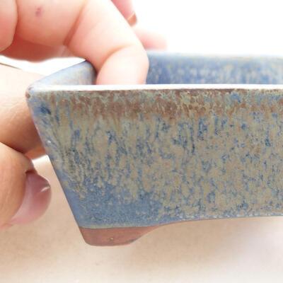 Ceramiczna miska bonsai 12 x 9 x 3,5 cm, kolor niebieski - 2