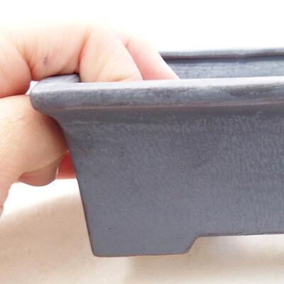 Ceramiczna miska bonsai 11 x 8,5 x 4,5 cm, kolor metalowy - 2