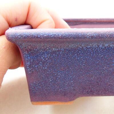 Ceramiczna miska bonsai 11 x 8,5 x 4,5 cm, kolor fioletowy - 2