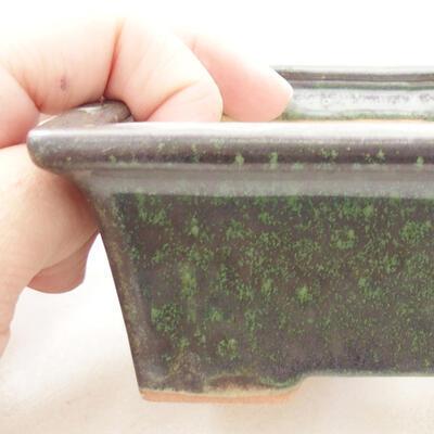 Ceramiczna miska bonsai 11 x 8,5 x 4,5 cm, kolor zielony - 2