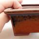 Ceramiczna miska bonsai 11 x 8,5 x 4,5 cm, kolor brązowy - 2/3