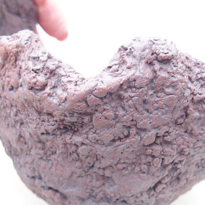 Ceramiczna skorupa 11 x 10 x 10,5 cm, kolor szary - 2