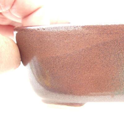 Ceramiczna miska bonsai 12 x 9 x 5 cm, kolor brązowy - 2