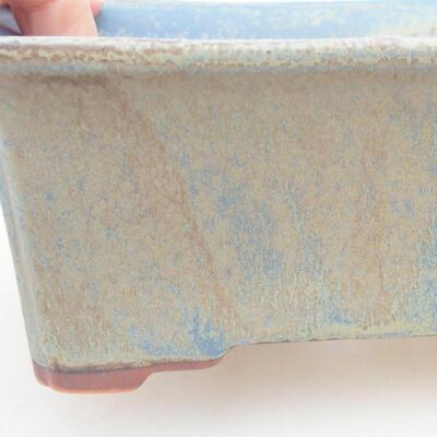 Ceramiczna miska bonsai 18 x 14 x 7 cm, kolor niebieski - 2