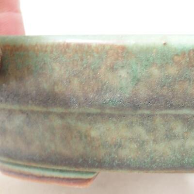 Ceramiczna miska bonsai 13 x 10,5 x 3,5 cm, kolor zielony - 2