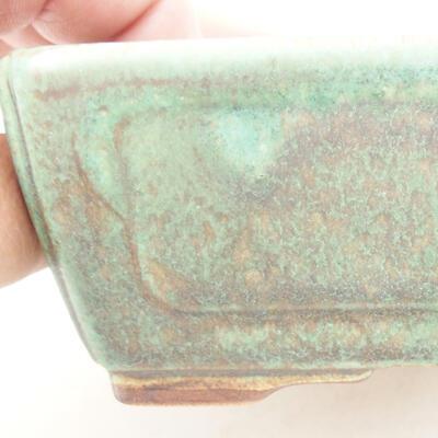 Ceramiczna miska bonsai 12,5 x 9 x 4,5 cm, kolor zielony - 2