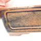 Ceramiczna miska bonsai 12,5 x 9 x 4,5 cm, kolor brązowo-czarny - 2/3