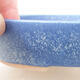 Ceramiczna miska bonsai 17 x 13,5 x 3,5 cm, kolor niebieski - 2/3