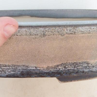 Miska Bonsai 33 x 25 x 7,5 cm, kolor szaro-beżowy - 2
