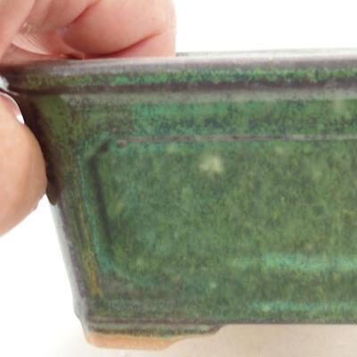 Ceramiczna miska bonsai 13 x 10 x 5 cm, kolor zielony - 2