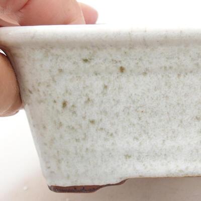 Ceramiczna miska bonsai 13 x 10 x 5 cm, kolor biały - 2
