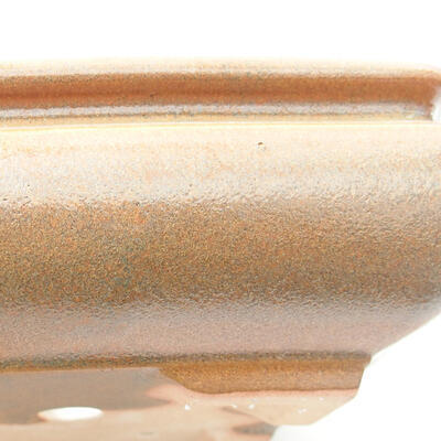 Ceramiczna miska bonsai 15 x 15 x 5,5 cm, kolor brązowy - 2