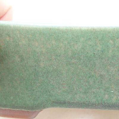 Ceramiczna miska bonsai 23 x 18 x 5,5 cm, kolor zielony - 2