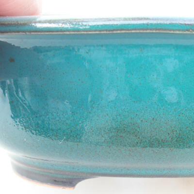 Ceramiczna miska bonsai 14 x 11 x 5,5 cm, kolor zielony - 2