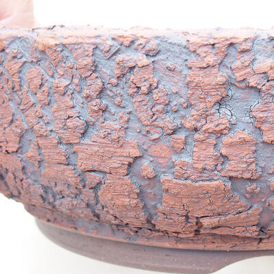 Ceramiczna miska bonsai 15,5 x 15,5 x 5,5 cm, kolor spękany - 2