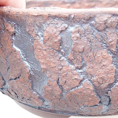 Ceramiczna miska bonsai 18 x 18 x 7,5 cm, kolor spękany - 2