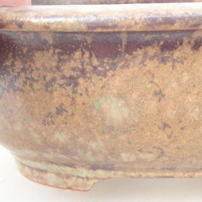 Ceramiczna miska bonsai 14 x 11 x 5,5 cm, kolor brązowy - 2