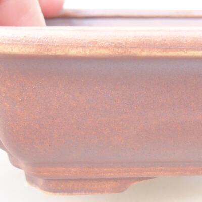 Ceramiczna miska bonsai 17 x 13 x 4,5 cm, kolor szary - 2