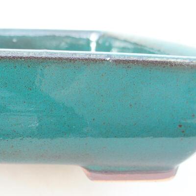 Ceramiczna miska bonsai 14 x 10,5 x 3,5 cm, kolor zielony - 2