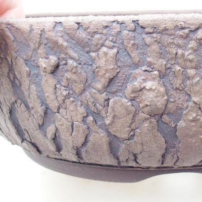 Ceramiczna miska bonsai 21 x 21 x 7 cm, kolor spękany - 2