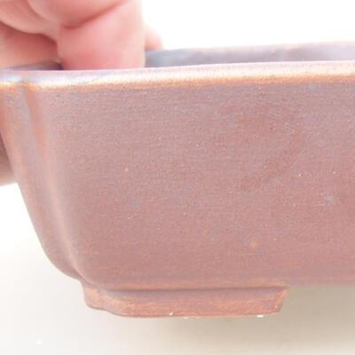Ceramiczna miska bonsai 15 x 11,5 x 4 cm, kolor brązowy - 2