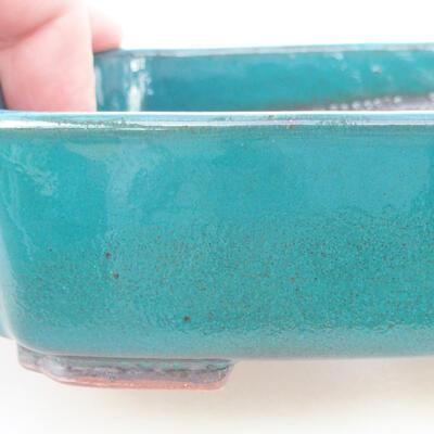 Ceramiczna miska bonsai 15 x 11,5 x 4 cm, kolor zielony - 2