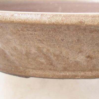 Ceramiczna miska bonsai 23,5 x 23,5 x 5 cm, kolor brązowy - 2