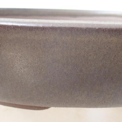 Ceramiczna miska bonsai 18 x 18 x 4 cm, kolor brązowy - 2