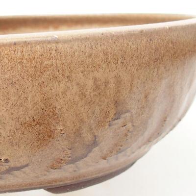 Ceramiczna miska bonsai 20 x 20 x 6 cm, kolor brązowy - 2