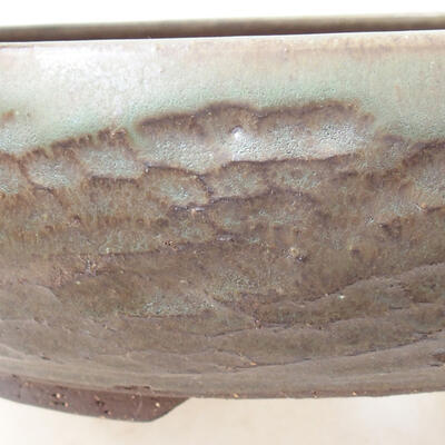 Ceramiczna miska bonsai 22 x 22 x 6 cm, kolor brązowy - 2