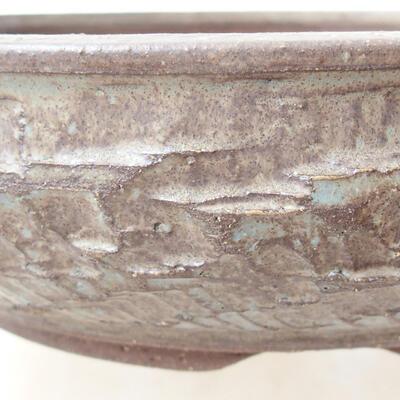 Ceramiczna miska bonsai 23,5 x 23,5 x 6 cm, kolor niebieski - 2