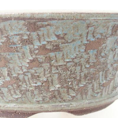 Ceramiczna miska bonsai 24 x 24 x 7,5 cm, kolor niebieski - 2