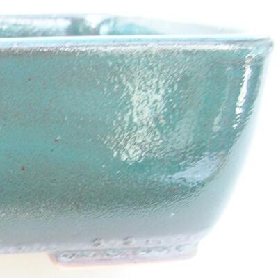 Ceramiczna miska bonsai 15,5 x 10 x 4 cm, kolor zielony - 2