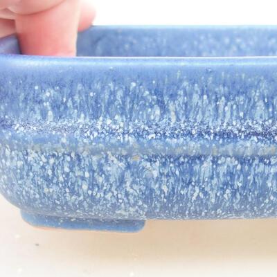 Ceramiczna miska bonsai 14 x 12 x 4 cm, kolor niebieski - 2