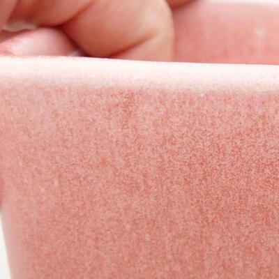 Ceramiczna miska bonsai 10 x 10 x 8 cm, kolor różowy - 2