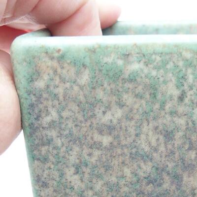 Ceramiczna miska bonsai 8,5 x 8,5 x 8,5 cm, kolor zielony - 2