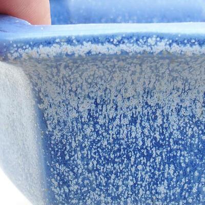 Ceramiczna miska bonsai 12 x 10,5 x 7,5 cm, kolor niebieski - 2